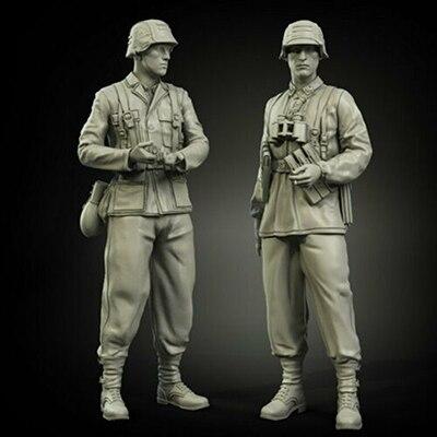 1/35 antiguo soporte Guerrero en Normandía Set período resina figura modelo kits miniatura gk desmontaje sin pintar