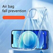 Transparent Case For 11 12 mini pro Protection IPhone 6 7 8 plus 13 Soft XR X