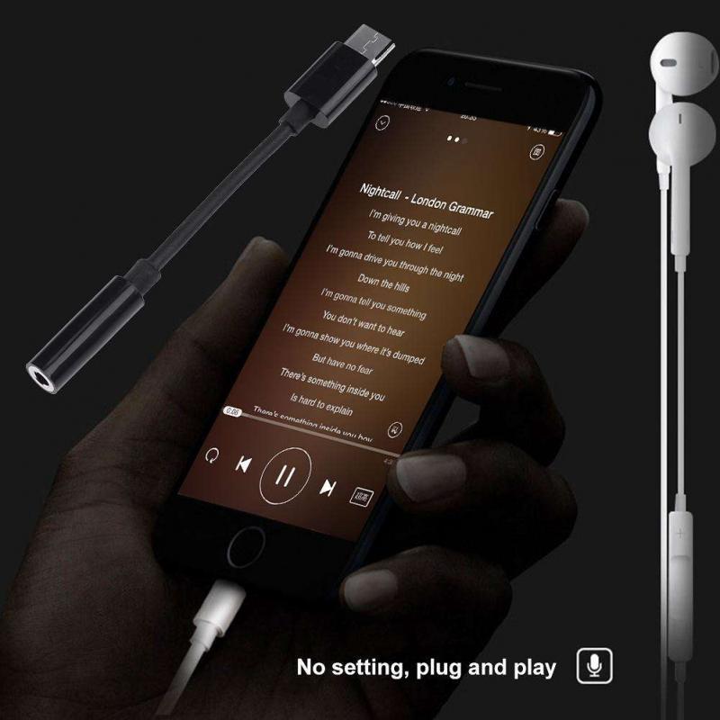 Adaptador de Cable USB-C tipo C a conector de 3,5mm, Cable Aux de Audio para auriculares, accesorio para teléfono inteligente Xiaomi Prouct