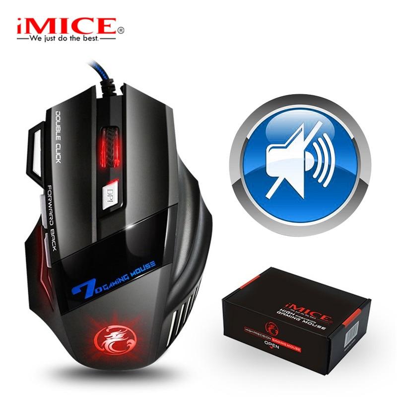 Gaming Muis Gamer 7 Knop 5500 Dpi Wired Ergonomische Muis Led Mause Computer Muis Stille Usb Pc Muizen Met Backlight voor Laptop