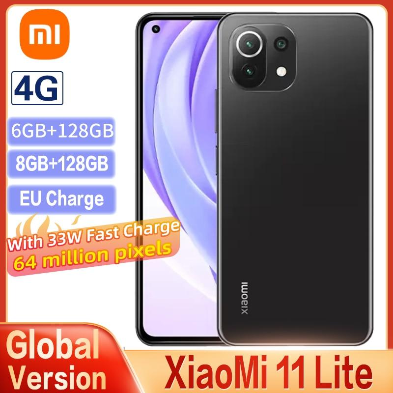 Global Version Xiaomi Mi 11 Lite Smartphone Snapdragon 732 CPU 64MP Camera 90HZ AMOLED Full Screen 4250mAh NFC 33W Fast Charge