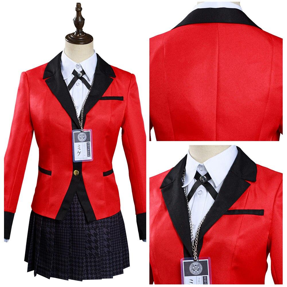 Kakegurui: قهري جابامي يوميكو/مياري سوتومي تنورة موحدة ملابس هالوين كرنفال البدلة