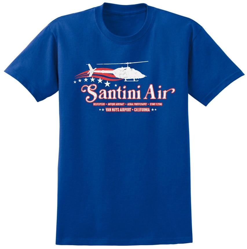 Santini Air Airwolf Inspired T-shirt Retro 80s USA Helicopter Stunt TV Tee Unisex Men Women Tee Tshirt