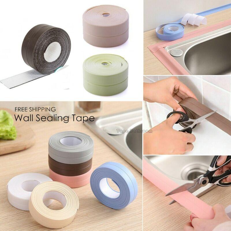 Cinta adhesiva autoadhesiva impermeable del sello de la tira de la calafateo del fregadero del baño de la cocina cinta adhesiva