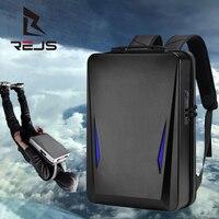 Рюкзак REJS LANGT мужской с защитой от кражи, модный жесткий ранец для ноутбука 17,3 дюйма с зарядкой, портфель для школы и деловых поездок