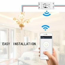 MS-101 DIY WiFi Smart Light Switch Universal Breaker Timer Smart Life APP Wireless Remote Control Works with Alexa Google Home