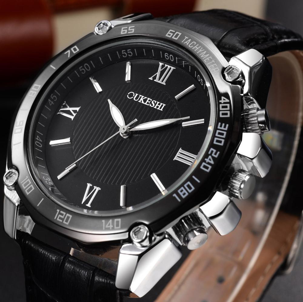 Marca OUKESHI, relojes de negocios a la moda para hombres, relojes de pulsera militares informales de acero inoxidable, relojes de pulsera Relogio Masculino, gran oferta