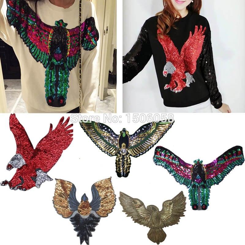 2 unids/lote encaje ropa patrón Diy accesorios apliques, parche tela de lentejuelas parche para suéter de YN266