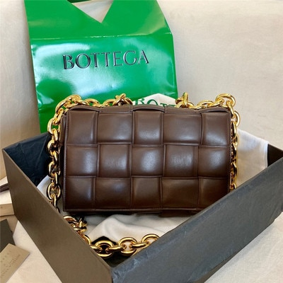Thick Metal Chain Leather Handbags Luxury Women Bag Designer Female Plaid Shoulder Bag Lady Weave Flap Bags Square Crossbody bag