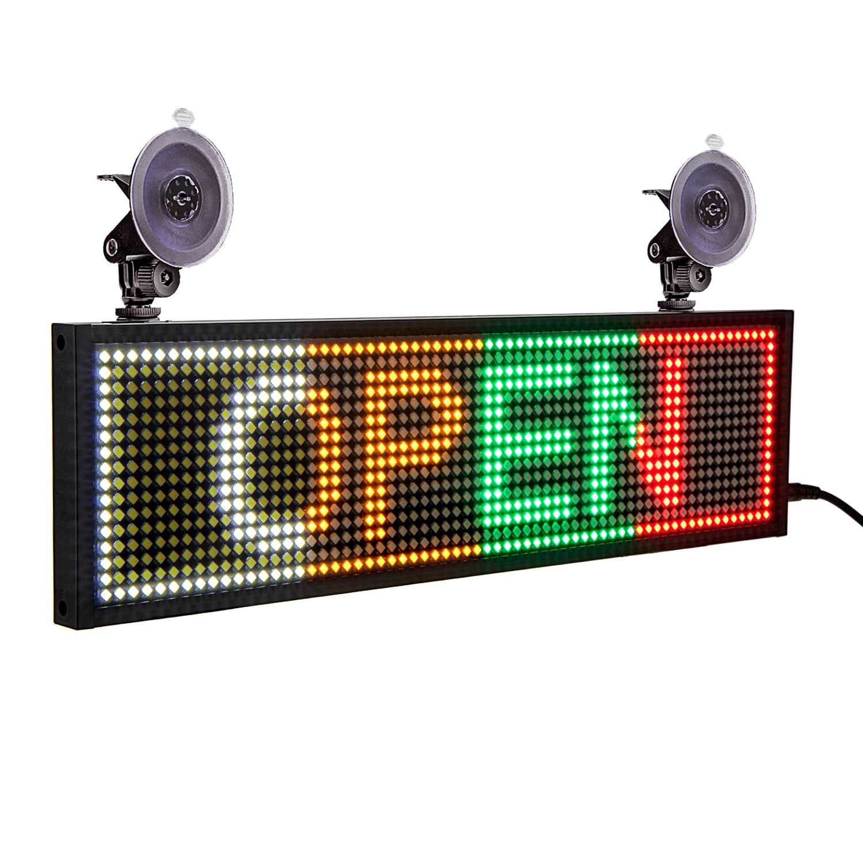 12 В автомобильная светодиодная панель P5mm 34CM WiFi/USB программируемая прокрутка сообщения Светодиодная панель экрана дисплея SMD различные цвет...