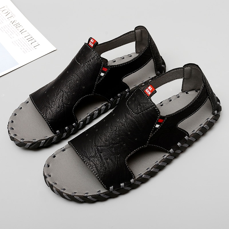 Nine o'clock Men's Casual Sandals Summer Male Breathable Shoes Comfortable Flats Footwear New Fashio