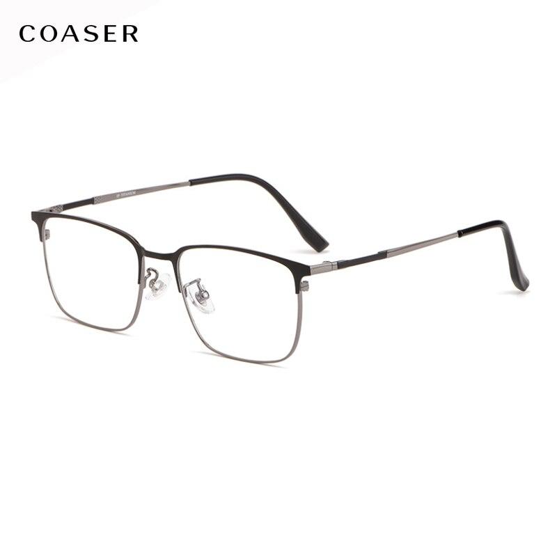 جديد تصميم ماركة الموضة نمط الأعمال التيتانيوم نظارات إطار الرجال المعادن النظارات إطارات قصر النظر البصرية وصفة النظارات