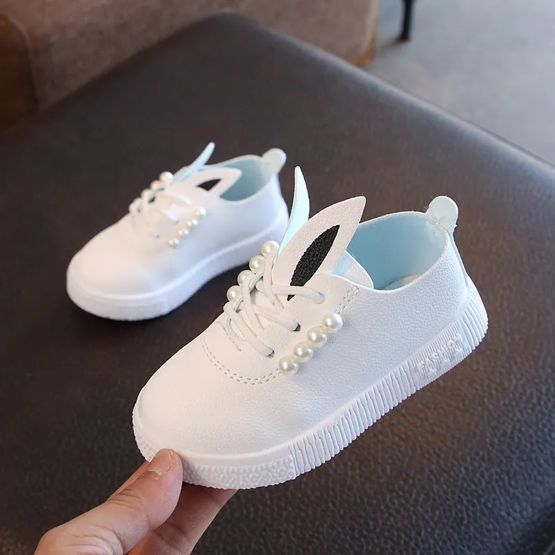 Toddlers PU leather casual shoes boys girls casual sneakers pearl white platform shoes children sneakers