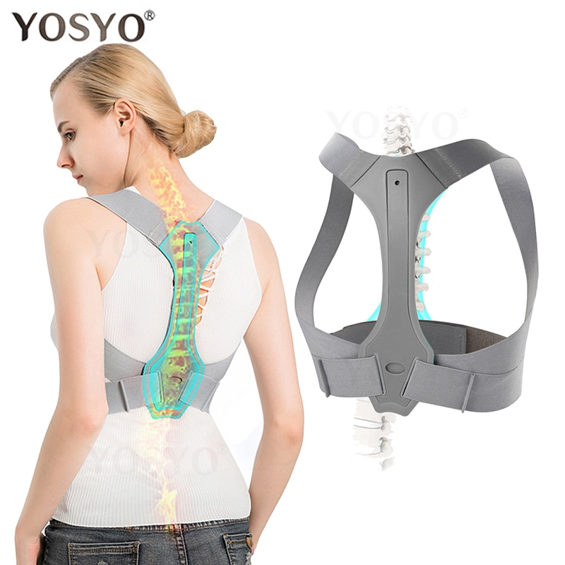 YOSYO Posture Corrector for Men and Women Adjustable Upper Posture Brace for Support,Providing Shoul