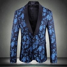 Luxury Jacquard Blazer Mens Party Costume Singer Man Fashion Casual Slim Fit Wedding Blazers For Men