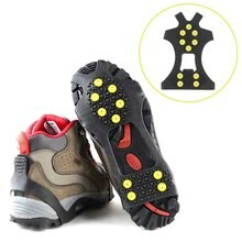 Compact 10 Studs Anti-Skid Snow Shoes Cover Durable Spikes Grips Crampon Cleats Universal Outdoor Sp