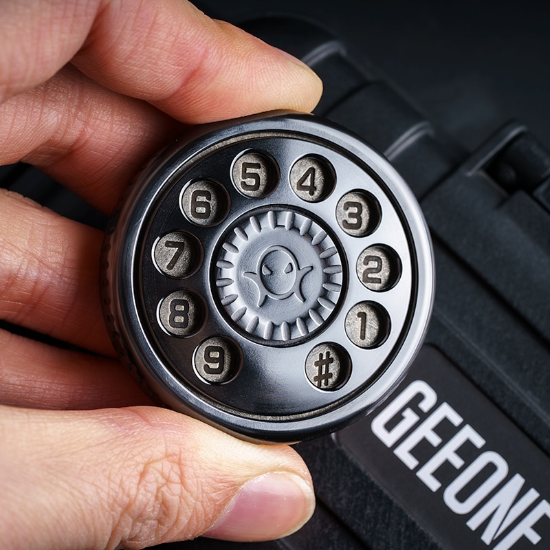 Finger Play House Phone Dial Black Mirror Original Push Plate Rotor Pop Coin Fingertip Gyro Pressure Reduction Toy EDC enlarge