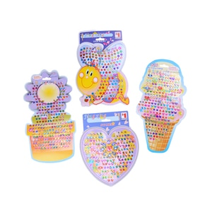 Beautiful Kid Girl Crystal Stick Earring Sticker Toy Body Bag Party Jewellry For Women Decoration Jewelry