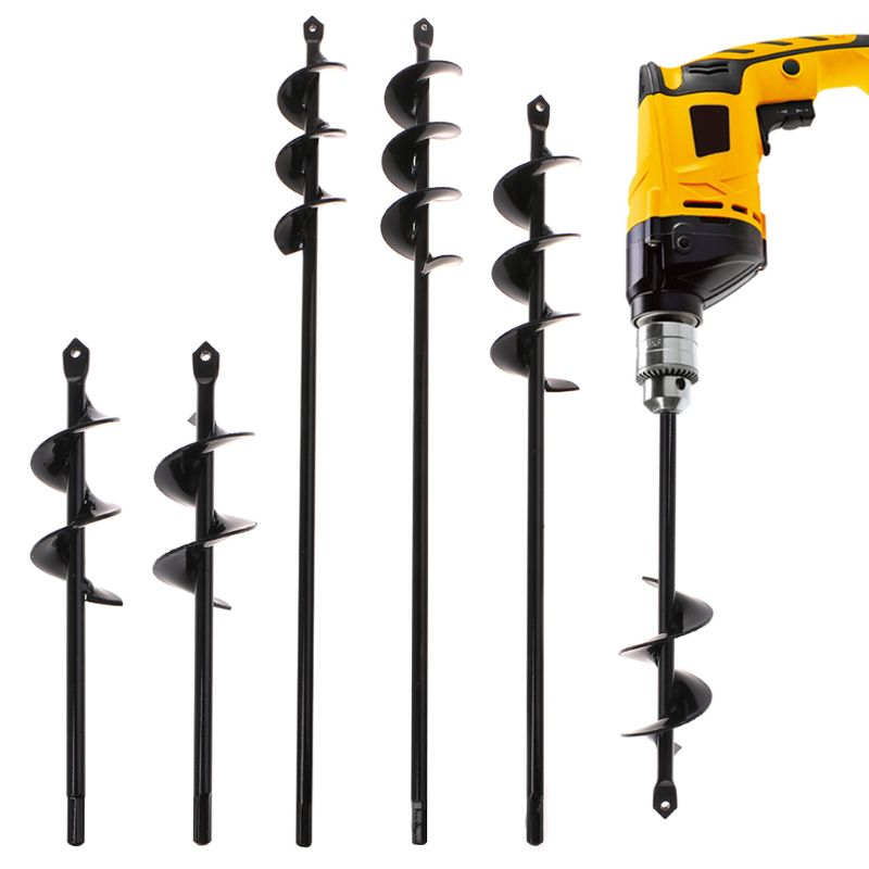 new home yard garden earth land digging holes tool drill bit farm planting auger digging spiral bit for electric cordless drill Black Home Yard Garden Flower Plant Farm Planting Auger Digger Twist Spiral Bit Digging Holes Drill Bit Tools