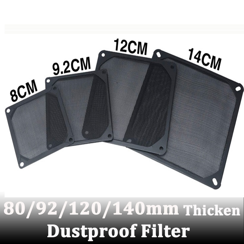5pcs Gdstime 80mm 92mm 120mm 140mm Black PVC PC Dust Filter Fan Dustproof Computer case Mesh Covers Black silvery