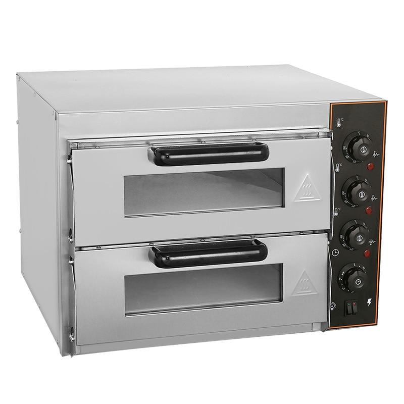 Máquina de pizza elétrica única camada dupla camada cozimento pizza forno comercial ovo tart asas frango pizza forno
