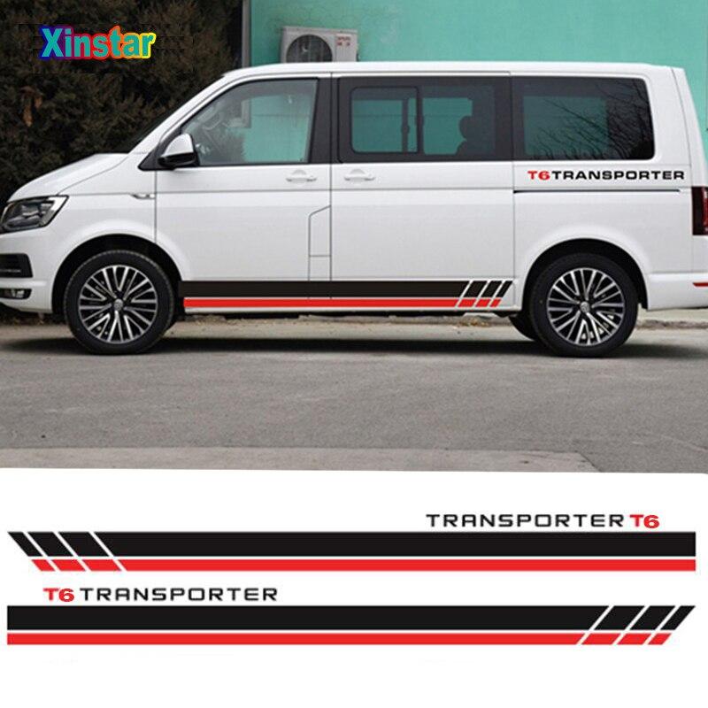 2 шт. сбоку наклейка на кузов автомобиля для VW Volkswagen транспортер T5 T6 аксессуары