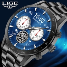 LIGE 2021 New Bluetooth Call Smart Watch Men Sports Clock IP68 Waterproof Heart Rate Monitoring Smar