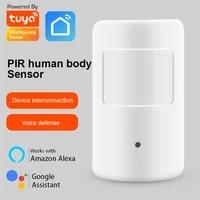 Tuya Zigbee     capteur de mouvement PIR  systeme de securite Intelligent pour scenes de vie  lien Intelligent  Alexa Echo  Google Home Assistant