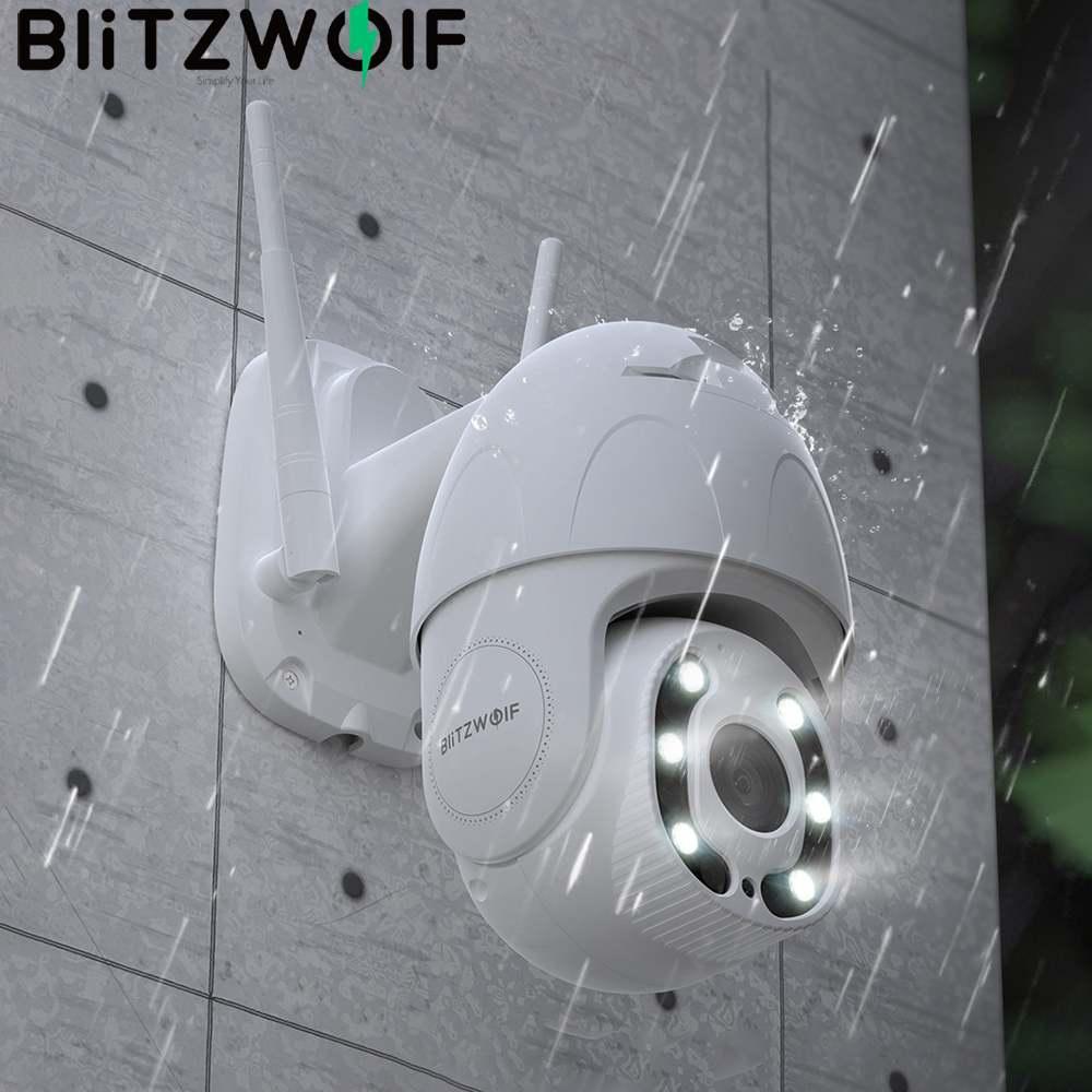 Blitzwolf 1080P واي فاي كاميرا IP الأمن في الهواء الطلق PTZ كاميرا مراقبة الإنسان التعرف على الحركة للرؤية الليلية الأمن كاميرا IP