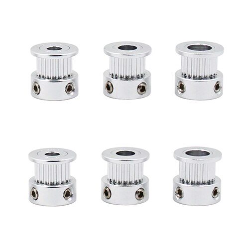 1Pcs Aluminum GT2 7mm Width 25 Tooth Teeth 2GT Timing Drive Pulley Pully Wheels Gear For 3D Printer Bore=7mm/8mm