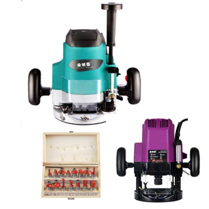 Деревообрабатывающие инструменты, гравировальный станок, Электрический шлицевой станок высокой мощности, ручной фрезерный станок для дре...