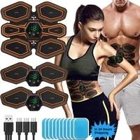 abdominal muscle stimulator trainer usb connect hip ems abs fitness electrostimulator toner exercise led 6m 19 level