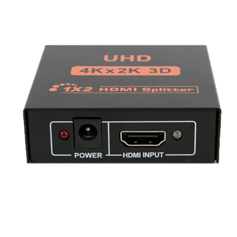 1 en 2 de HDMI Splitter 4K x 2K mismo Sn divisor de vídeo con pantalla divisor HDMI 1X2 conmutador para HDTV-STB (enchufe de la UE)