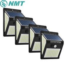 100/144 LED 야외 태양 벽 램프 PIR 모션 센서 방수 빛 정원 빛 경로 비상 보안 빛 3 양면