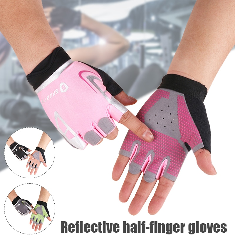 Bicycle Glove Non Slip Half Finger Breathable Fitness Gloves Sunscreen Sports Gloves for Men and women New BHD2