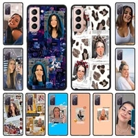 hot charli damelio addison rae phone case for samsung galaxy s20 fe s21 plus shell for samsung s21 s20 ultra smartphone cover