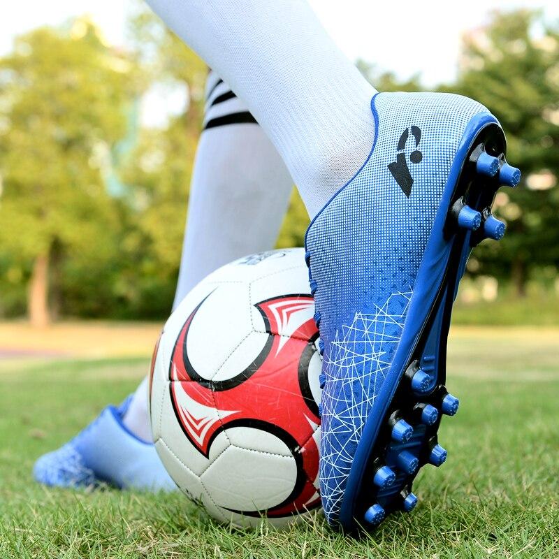 Мужские дышащие Нескользящие футбольные туфли Baasploa, Легкие уличные спортивные футбольные кроссовки для мальчиков, футбольные бутсы унисек...