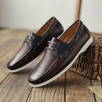 men shoes leather soft fashion boat shoes casual spring summer moccasins classic breathable breathable loafers