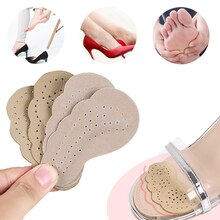 1Pair Leather Non-slip Insoles Stickers High Heel Shoes Insoles Women Foot Self-adhesive Patch Cushi