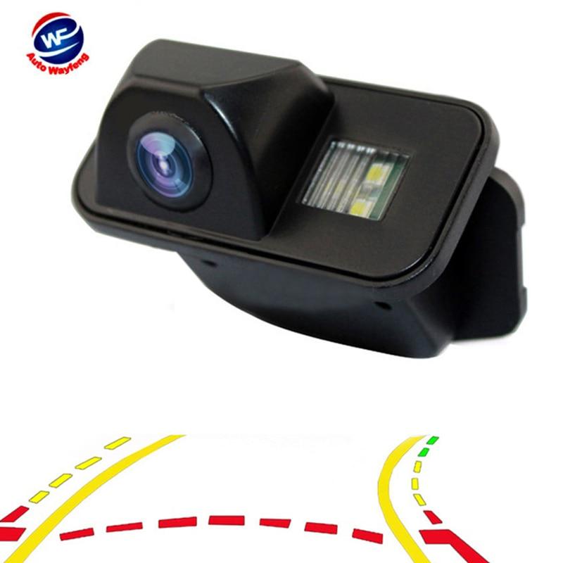 Cámara de visión trasera de marcha atrás de trayectoria dinámica de coche para Toyota Corolla Auris Avensis T25 T27 cámara de pistas de estacionamiento de vehículos