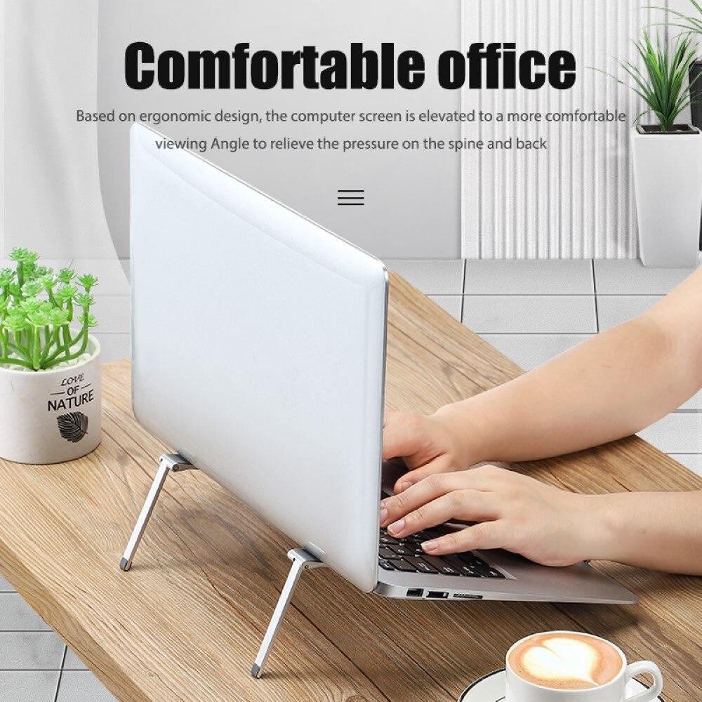 حامل كمبيوتر محمول قابل للتعديل طوي المحمولة دفتر حامل سطح المكتب مريح محمول الناهض للمنزل مكتب مقهى مكتبة