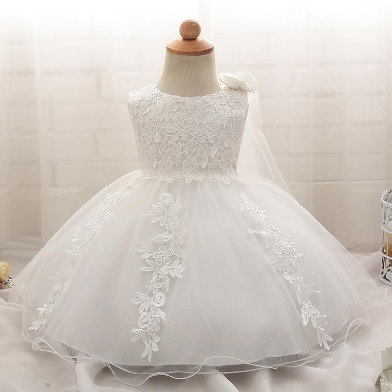Robe blanche pour bébés filles   Vêtements pour nouveaux-nés, tenue princesse de bal pour baptême, anniversaire de baptême, pour enfants de 6 mois, blanc