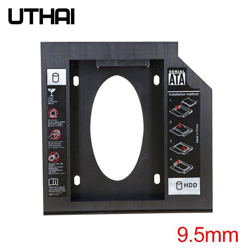 UTHAI T02 CD-ROM Drive SSD Hard Drive Caddy Laptop Internal Enclosure 2.5 inch SATA I II III HDD Dri