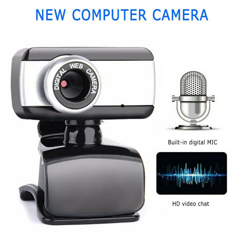 USB 2.0 HD Webcam Camera Webcam High Definition Camera Web Cam with Microphone for Computer PC Laptop Desktop