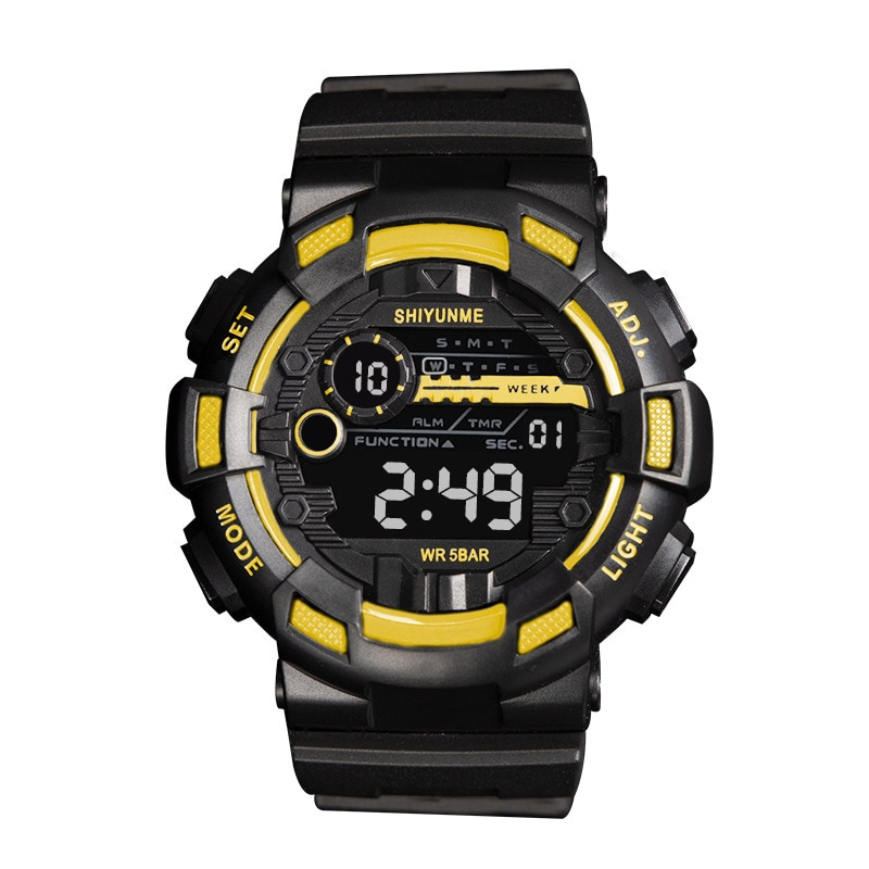 Fashion Trend Men's Watch Personality Multiple Functions Digital Student Electronic Wristwatch reloj