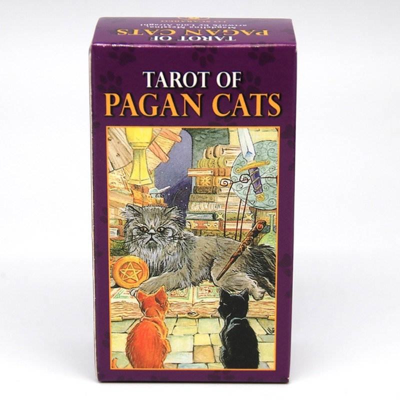 Geneic 78 Cards Deck Tarot Of Pagan Cats Full English Family Party Board Game Oracle Cards Astrology Divination Fate Card недорого