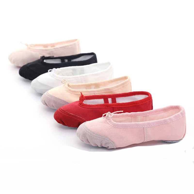 EU22-45 Cloth / Head Skin Yoga Slippers Teacher Gym Indoor Exercise Canvas Ballet Dance Shoes Children Kids Girls Woman