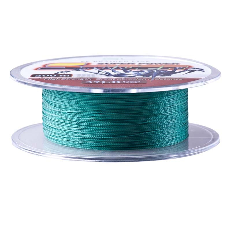 TAF 4 Braided Fishing Line 300m PE Braided Line Multifilament Super Power Spider Wire White/Green 2Colors 12-80LB Smoother Pesca enlarge