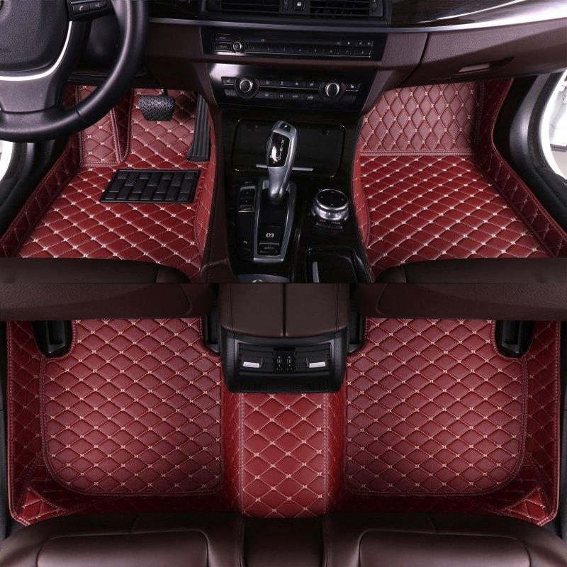 Alfombrillas de coche personalizadas para Bmw5 Touring 2011 2012 2013 2014 2015 2016 modelo completo de cuero ecológico para Interior de coche accesorios de coche