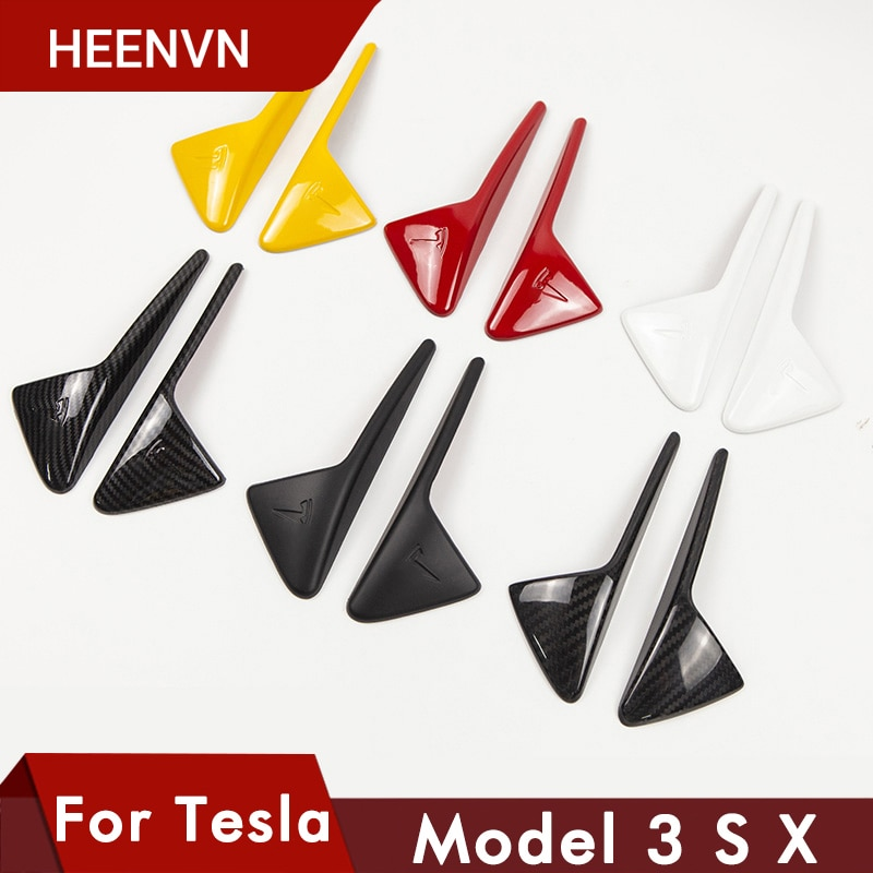 Heenvn New For Tesla Model 3 Y S X 2021 Accessories Side Camera Carbon Fiber ABS Protection Cover For Tesla Model Three Model3